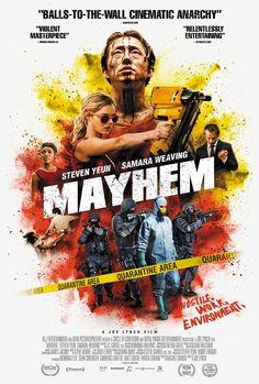 The latest horror and sci-fi news from around the world. 'Mayhem' release date and new poster Mayhemis a 2017 comedy horror action film directed byJoe Lynch(Knights of Badassdom;Wro…
