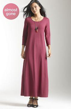 Wearever 3/4-sleeve scoop-neck maxi dress thestylecure.com