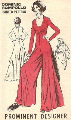 Dominic Rompollo vintage sewing pattern  Very wide leg by Iam4uk