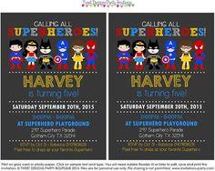 SUPERHERO Invitation INSTANT DOWNLOAD Superhero Invitation