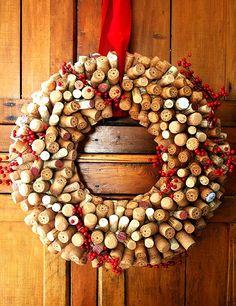 Wine Cork Wreath by Jahree'