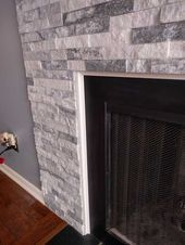 Post with 1455 votes and 387587 views. Tagged with diy, renovation, fireplace; Shared by DIY Stone Fireplace Surround Fireplace Surround Diy, Stone Veneer Fireplace, Stone Fireplace Makeover, Stacked Stone Fireplaces, Tv Above Fireplace, Build A Fireplace, Home Fireplace, Faux Fireplace, Fireplace Remodel