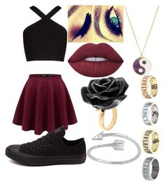 """There is Always Room For Something Harry Potter"" by broadwaygeek11 ❤ liked on Polyvore featuring BCBGMAXAZRIA, Converse, Lime Crime, Accessorize, Nach Bijoux, Midsummer Star and Warner Bros."