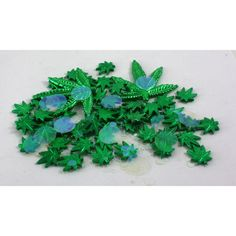 Weed Leaf Marijuana Confetti Table Sprinkles Hippie Party Decor