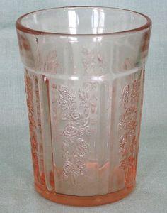 Sharon Cabbage Rose PInk Depression Glass Tumbler A http://www.rubylane.com/item/506482-100-5795/Sharon-Cabbage-Rose-PInk-Depression#.T35xaexZ9UQ.twitter via @rubylanecom