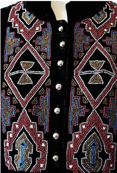 DOUBLE D - Earth Spirit velvet tunic with intricate beading