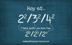 """Hoy es 04/09/16... ¡Un día """"cuadrado""""!"""
