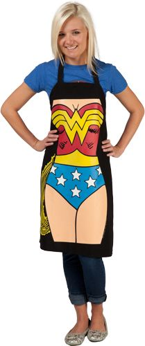 This Wonder Woman apron will make anyone feel super as they create culinary confections.
