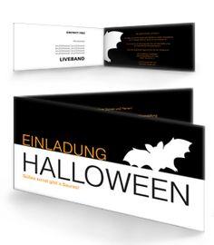 Halloween Party Einladung Von Www.onlineprintxxl.com #einladungskarte  #kartendesign #karte