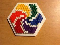 Perler rainbow twirl