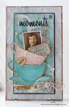 That's Life: Tea Dance ~ created by Emma Williams for the Simon Says Stamp Monday Challenge featuring products by Tim Holtz and Sizzix
