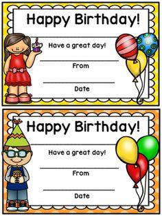Happy Birthday Certificate- Polka Dot Theme Preschool Birthday, Classroom Birthday, New Classroom, Classroom Decor, Birthday Invitations, Birthday Cards, Happy Birthday, Bus Crafts, Birthday Certificate