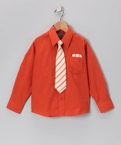 Take a look at this Rust Shirt Set - Infant, Toddler & Boys by Angels New York on #zulily today!