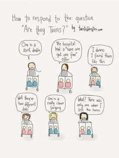 How to respond to the question 'Are they twins?'