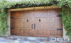 Spanish Style Wooden Gates | Dynamic Garage Door | Custom Architectural Garage Door : Tuscan ...