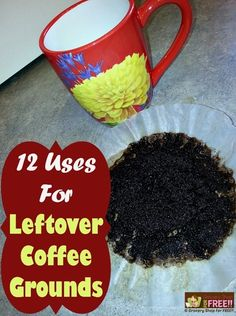 12 Uses For Leftover Coffee Grounds!  check out how to ward off Mosquitos  using coffee grinds-mm  5b8cb4b937