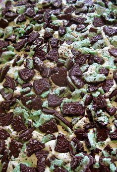 Iced Mint Oreo Brownies
