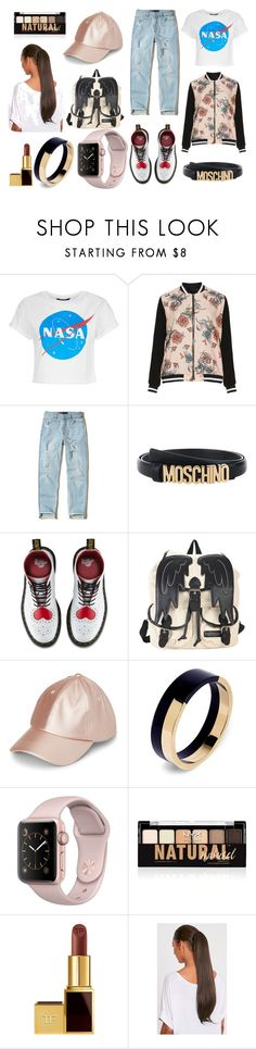 """Boyish never fail"" by fitrialiya on Polyvore featuring Jette, Hollister Co., Moschino, Dr. Martens, Hot Topic, Marni, NYX and Tom Ford"
