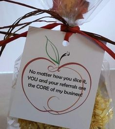 Gift Basket Villas - Apple Pop-By Referral Gift, $2.75 (http://www.giftbasketvillas.com/apple-pop-by-referral-gift/)