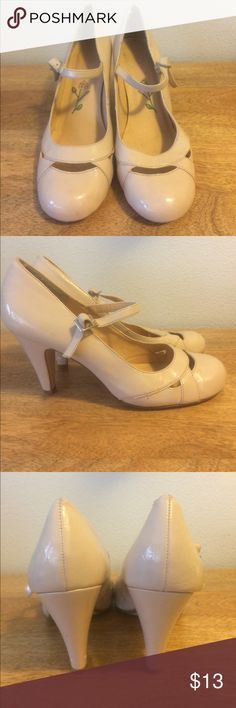 Selling this MIA Nude Mary Jane Heels (size 8) on Poshmark! My username is: celeerryc. #shopmycloset #poshmark #fashion #shopping #style #forsale #MIA #Shoes