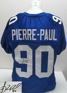 Jason Pierre-Paul Signed Pro-Style Custom Blue Jersey JSA .  249.00.  Featured is a SIGNED Jason Pierre-Paul New York Giants Custom Blue Jersey. ff11deb16