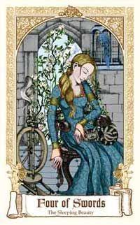 The Fairytale Four of Swords  Sleeping Beauty