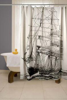 Unique Shower Curtains Ideas #Shower+Curtain Ideas #Bathrooms