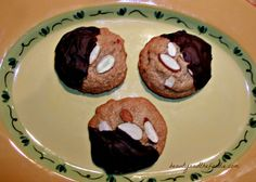 Chocolate Dipped Italian Almond Cookies Shared on https://www.facebook.com/LowCarbZen | #LowCarb #Cookies #GlutenFree