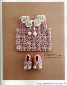 larch crochet pattern in rowan knitting crochet magazine 50 Crochet Girls, Crochet For Kids, Crochet Hats, Knitting For Kids, Baby Knitting Patterns, Japanese Crochet Patterns, Crochet Video, Knitted Baby Clothes, Beautiful Crochet