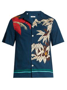 Click here to buy Valentino Tropical-print cotton shirt at MATCHESFASHION.COM