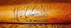 Vintage wood baseball bat - McClurg's League