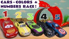 Learn Colors with Cars and Learn Numbers with Lightning McQueen, Hot Wheels cars and the funny Funlings. The cars form teams based on their color and race ag.
