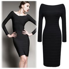 Find More Dresses Information about 2014 New Women Vestido Casual Clothes Sexy Slim Bandage Bodycon Pencil Celebrity Dress With long sleeves Plus Size Hot Sale,High Quality Dresses from Global Trade Direct Ltd. on Aliexpress.com