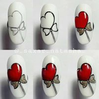 Nail designs here! Nail Art Hacks, Gel Nail Art, Nail Art Diy, Diy Nails, Acrylic Nails, Manicure, Holiday Nails, Christmas Nails, Valentine's Day Nail Designs