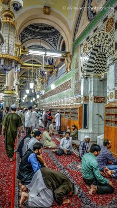 Inside al-Masjid an-Nabawi Prayer Hall (al-Madinah, Saudi Arabia)