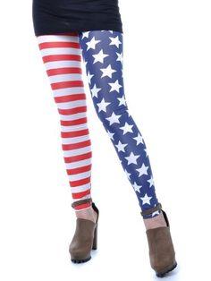 Anna-Kaci Free Size Red White Blue Star Spangle « Impulse Clothes