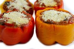 Skinny Stuffed Italian Peppers: Each serving has 226 calories, 6g fat and just 4 Weight Watchers SmartPoints…