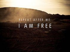 Free at Last... Free at Last.... Thank GOD ALMIGHTY, I am free at last!