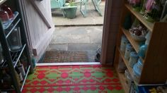 New rug in the beach hut