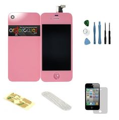 Iphone 4S Complete Color Change Kit (Pink) #http://www.pinterest.com/ordercases/