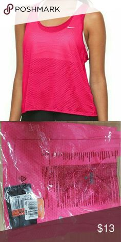 NIKE Dri Fit Mesh Running Tank Women's Nike Run Fast Dri-FIT Mesh Running Tank  Retail price: $35.00   Product Details Stay ahead of the competition in this lightweight mesh women's tank from Nike.  PRODUCT FEATURES Perfect for medium-impact exercise Dri-FIT moisture-wicking technology Breathable mesh construction Reflective details Racerback Scoopneck  FABRIC & CARE Polyester Machine wash Imported  This item is brand new, never worn, still in original packaging. Nike Tops Tank Tops