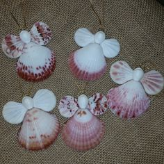 This Adorable Calico Seashell Angel is handmade here at Sea Things. This Angel…