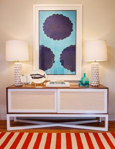 Caryn Cabinet with modern nautical accents