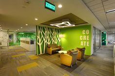 Collaborative interior professional office spaces