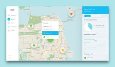 Creative User, Interface, Fullview, and Map image ideas & inspiration on Designspiration Gui Interface, User Interface Design, Dashboard Ui, Dashboard Design, Design Ios, Flat Design, Dots Design, Design Thinking, App Map