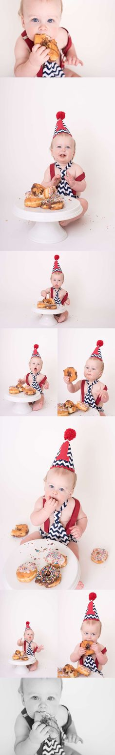 620653ac0 This donut smash session was a blast! Check out this sweet boy's one-year