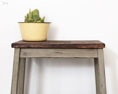 Ikea stool transformation with Old World Chalk Paint