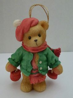 Cherished Teddies 177768 BEAR WITH DANGLING MITTENS Hanging Ornament