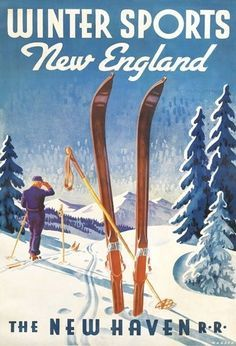 vintage travel poster new england - Google Search