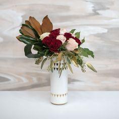 A dozen roses at a w